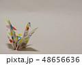 鶴 ツル 折り紙の写真 48656636