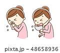 くしゃみ アレルギー 風邪のイラスト 48658936