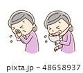 くしゃみ 花粉症 アレルギーのイラスト 48658937