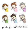 鼻水 鼻炎 くしゃみのイラスト 48658938