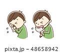 くしゃみ 風邪 鼻水のイラスト 48658942