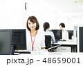 ビジネス オフィス パソコン ビジネスウーマン 48659001