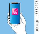 スマホ スマートフォン アイコンのイラスト 48659708