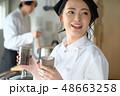 キッチン 厨房 2人の写真 48663258