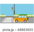 横断歩道 信号 車のイラスト 48663605