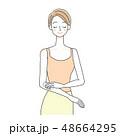 女性 ビューティー スキンケアのイラスト 48664295