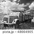 Old truck on field 48664905