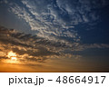 Sunset sky with multicolor clouds 48664917