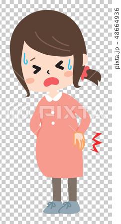 腰を痛める妊婦さん 48664936