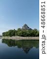 岡山城 天守閣 濠 反映  48668851