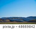 ソーラーパネル 太陽光パネル 青の写真 48669842