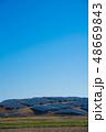 ソーラーパネル 太陽光パネル 青の写真 48669843