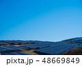 ソーラーパネル 太陽光パネル 青の写真 48669849