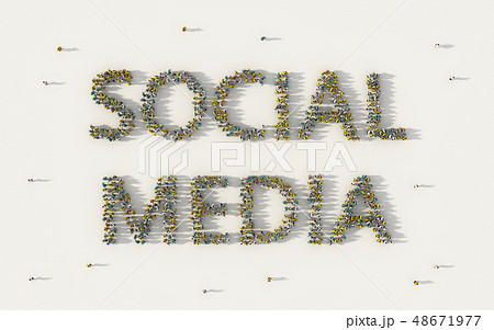 Large group of people forming Social Media 48671977