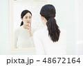若い女性・肌トラブル 48672164