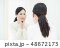 若い女性・肌トラブル 48672173