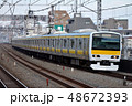乗り物 線路 電車の写真 48672393