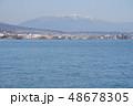 春の琵琶湖と比良山 48678305