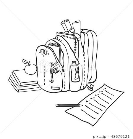 School backpack.  48679121
