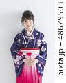 袴 女性 着物の写真 48679503