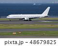 飛行機 旅客機 空港の写真 48679825