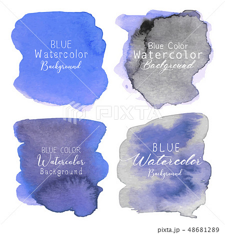 Blue abstract watercolor background. 48681289