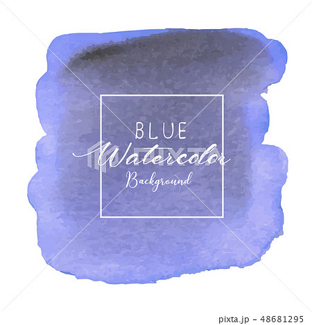Blue abstract watercolor background. 48681295