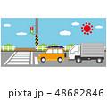 横断歩道 信号 車のイラスト 48682846