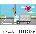 横断歩道 信号 車のイラスト 48682849