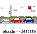 横断歩道 信号 車のイラスト 48682850