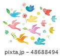 鳥と緑と花 48688494