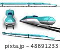 新幹線 東北新幹線 セットのイラスト 48691233