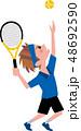 テニス ラケット ボールのイラスト 48692590