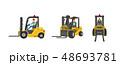 フォークリフト 配達 貨物のイラスト 48693781