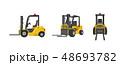フォークリフト 配達 産業のイラスト 48693782