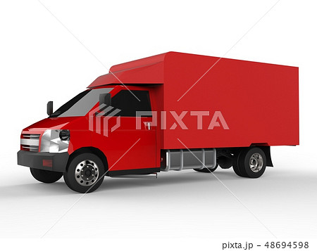 Small red truck. Car delivery service. Delivery of 48694598