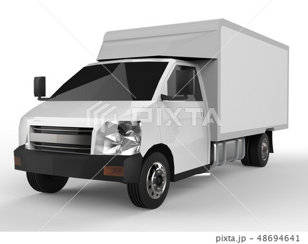 Small white truck. Car delivery service. Delivery 48694641