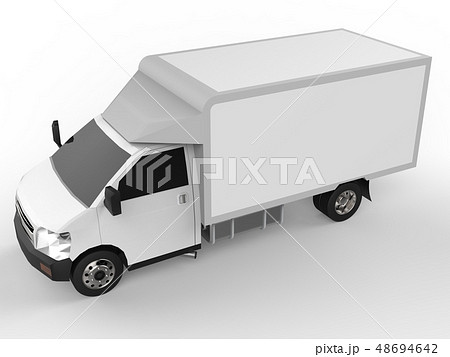 Small white truck. Car delivery service. Delivery 48694642