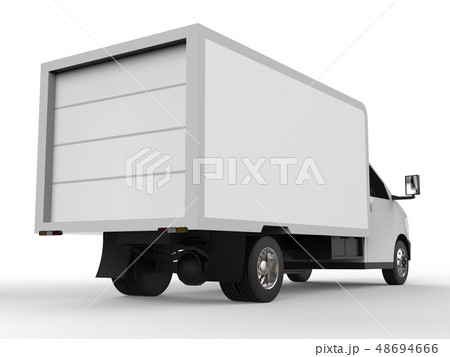 Small white truck. Car delivery service. Delivery 48694666