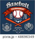 ベクトル ベースボール 白球のイラスト 48696349