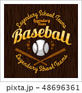 ベースボール 白球 野球のイラスト 48696361