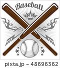 ベースボール 白球 野球のイラスト 48696362