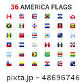 America flags of country. 36 flag square vector 48696746