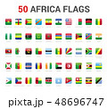 Africa flags of country. 50 flag square vector 48696747