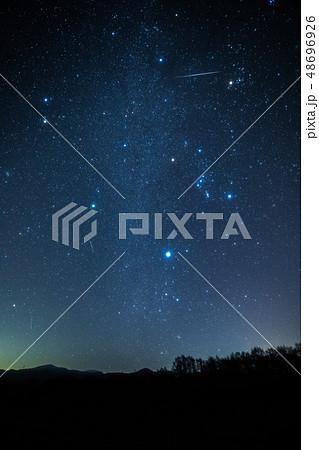 《ふたご座流星群》冬の大三角形とふたご座流星群 48696926