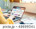 ノートパソコン クリエイティブ オンラインの写真 48699341