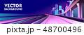 ビル群 ブリッジ 橋のイラスト 48700496