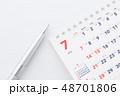 ビジネス カレンダー 予定の写真 48701806
