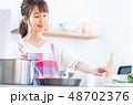 キッチン 調理 料理の写真 48702376