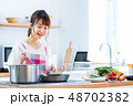 キッチン 調理 料理の写真 48702382